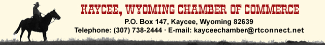 Click here to send e-mail to the Kaycee, Wyoming Chamber of Commerce